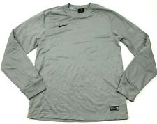Nike Goalie Soccer Jersey Size Small Gray Dry Fit Shirt Long Sleeve Dri-FIT Pads