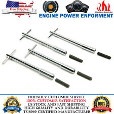 """5"""" Long Chrome Valve Cover Deluxe T-Bar Wing Nuts Bolts Studs 1/4""""-20 For chevy"""