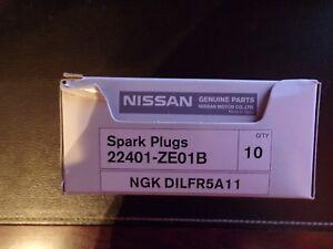 GENUINE NISSAN FRONTIER XTERRA & NV SERIES SPARK PLUG SET OF 6 OEM 22401-ZE01B