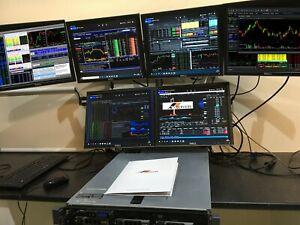 Trading Computer / Workstation , Dell R710 Server , 6 Monitors , 32GB RAM , 12TB