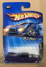 HOT WHEELS PIN HEDZ 1959 CADILLAC PURPLE WITH DESIGN ON TOP 91 1/5