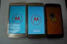 New listing Motorola E4 Xt1767 - 16Gb (Unlocked)Verizon Repair (Please Read) lot of 3