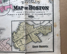 Russell's  Map Of Boston Dated 1872  Remnants