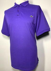Mens Lacoste Sport Indigo Purple Polo Shirt Size XL Vintage *Exclusive* 9-447
