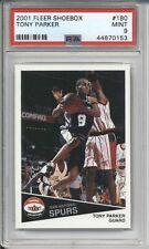 2001 Fleer Shoebox TONY PARKER #180 Rookie PSA 9 MINT /2500 Spurs RC Card **