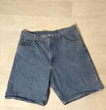 Wrangler Mens Jean Shorts Sz 38 Blue Denim 6CF6WIL Jorts Light Wash TZS-D512-010