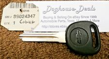 89024347 Transponder Key Blank, NOS OEM, Chevrolet Applications, Free US Ship ~