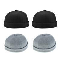 4 Pack Adjustable Vintage Brimless Fisherman Cap Skull Beanie Dance Hats