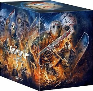 Friday the 13th Deluxe Collection 16 DIscs Edition Blu-ray Jason Voorhees Horror