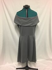 Boohoo Grey off the shoulder dress size 20