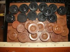 Antique  Draughts Checkers Set with Spare Playing Pieces