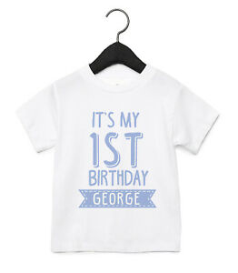 IT'S MY 1ST BIRTHDAY PERSONALISED BABY TODDLER T SHIRT KIDS FUNNY GIFT CUTE