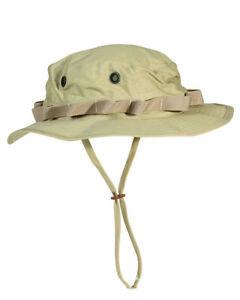 US Army Camo GI Dschungelhut R/S Boonie Hat Khaki Gr L Fischerhut Anglermütze