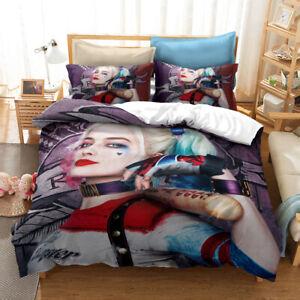 Harley Quinn 3D Bedding Duvet/Quilt/Doona Cover Sets Pillowcases H