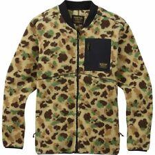 Medium BURTON Mens Full Zip Fleece Jacket, Duck Camo (MSRP $189)
