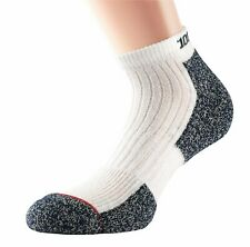 1000 Mile Womens Ultra Performance Socklet with Cupron - White/Blue - Medium