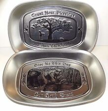 "ALUMINIUM DECORATIVE TRAY_DAT'L DO-IT, INC_""COUNT YOUR BLESSINGS_DAILY BREAD""2CT"