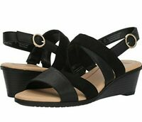 Dr. Scholl's Grace Wedge Sandals Women's Open Toe Black Casual/Dress Shoes 6-11