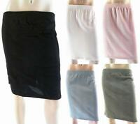 NEW Metropolitan Shimmer Straight Work Knee-Length Basic Stretch Knit Skirt CHOP
