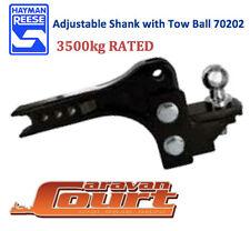 NEW Hayman Reese Adjustable Ball Mount 3500kg tow bar shank 200mm range 70202