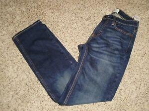BOYS ABERCROMBIE DARK BLUE JEAN PANTS NEW 13/14 SLIM