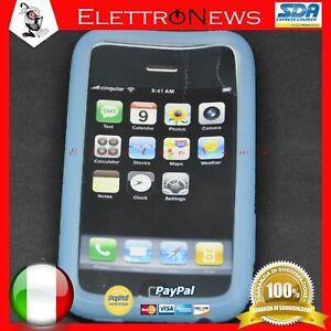 Custodia Cover TPU Celeste Iphone 3G Apple Antiurto