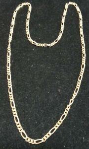 "Unisex Fashion Design Goldtone Chain Link Necklace 28""(NWOT)"