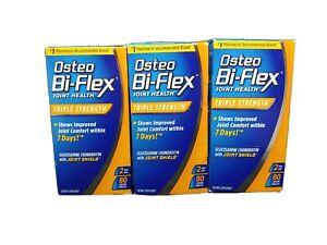 Osteo Bi-Flex Triple Strength Glucosamine. 240 Total FRESH Exp 04/22 lot of 3