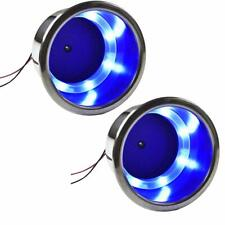 2X Blue Led Cup Holder Stainless Steel for Boat/Yacht /Car/Apartment /Truck Rv