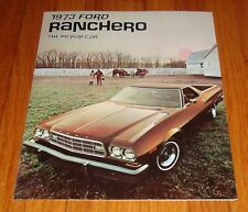Original 1973 Ford Ranchero Foldout Sales Brochure GT 500 Squire