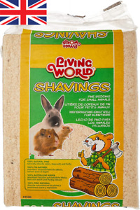 Small Animal Shavings Living World Natural Pine Absorbent Bedding 14L, 35L, 56L