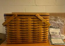 New ListingLongaberger 1998 Sweetheart Purple Cherished Memories Basket Combo w Handle Tie