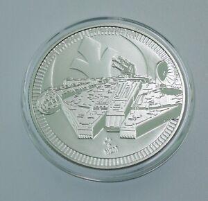 2021 - Niue Star Wars Millennium Falcon 1 oz 999 FINE Silver COIN BU IN cap #710