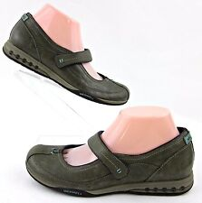 Merrell 'Allure' Mary Jane Shoes Dusty Olive Leather Sz 7.5