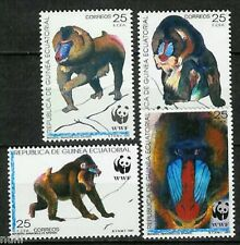 Equatorial GUINEA ECUATORIAL Edifil #139/142 ** MNH WWF Fauna monkeys Mandril