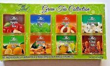 Tea Land Hot Green Tea Sampler - 40 Tea Bag, 8 Flavor Assortment Detox Tea