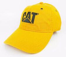 CAT CATERPILLAR *MUSTARD* TRADEMARK LOGO HAT CAP * NEW* CA08