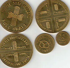 500 Mintage - 1970 - Purple Shaftieuland Set of 5 Aluminum or Brass coins- UNC.