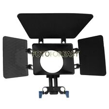 Matte Box Parasol pour 15mm Support de canne Follow Focus DSLR 5DII 60D D90