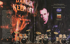 1997 Pearl Session Series Drums 2 Page Print Ad Scott Rockenfield Queensryche