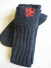 Embroidered Kilt Hose Socks ( Gray /w Lion )  NEW Size Medium