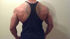 Mens Stringer Tank Top, Singlet Muscle Y Back Vest Bodybuilding, Fitness