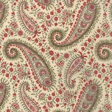 Moda 3 Sisters Sentiments Delicate Paisley Fabric in Parchment 4083-11