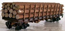 "HO  Detailed-  21 Pc- (14)-3/16""R x 5-3/4L &  (7)-1/4""R x 5-3/4""L Real Wood Logs"