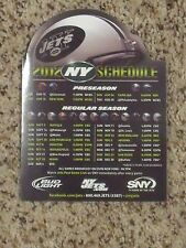 2012 New York Jets (NFL) Bud Light/SNY team issued magnet schedule
