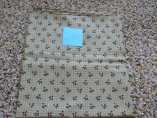 1 YD Quilt Sewing Fabric Light Green Squares Berries Prairie Christmas Moda