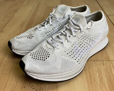 Nike Flyknit Racer Size UK 7 All White Trainers Shoes