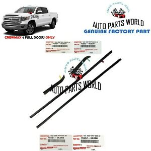 GENUINE TOYOTA TUNDRA CREWMAX FRONT & REAR ROOF DRIP SIDE FINISH MOLDING SET 4