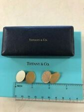 Oval Fluted Cufflinks Classic And Classy Rare Vintage Tiffany & Co 14K Gold