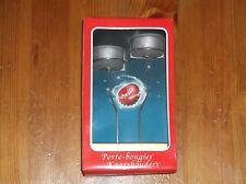 Porte bougie Coca-Cola pour les fêtes - pied argenté.